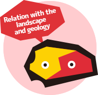 Relation with the landscape and geology